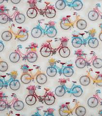 Novelty Quilt Fabric- Off White Bikes With Baskets | JOANN & Novelty Cotton Fabric-Off White Bikes With Baskets Adamdwight.com
