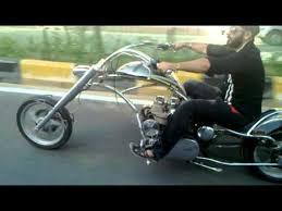 chopper bike delhi chromed alien youtube