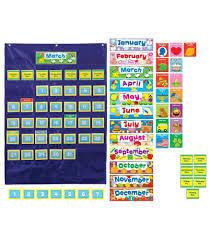 Carson Dellosa Deluxe Scheduling Pocket Chart Deluxe Calendar Pocket Chart Carson Dellosa Publishing