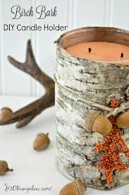 Easy DIY birch bark candle tutorial to make this upscale fall decor with a  scented candle