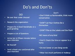 The Do S And Don Ts Of An Interview Purpose Of An Scholarship Interview Workshop Ppt Video