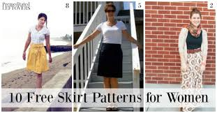 Free Skirt Patterns Cool 48 Free Skirt Patterns For Women
