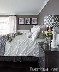 gray and white bedrooms