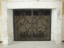 custom fireplace screens fireplace accessories