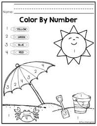 Small Picture FREE Summer Color by Number free printable worksheets to help