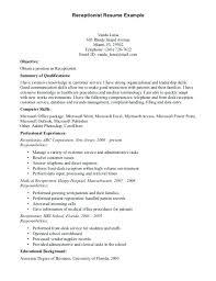 Front Desk Receptionist Resume Sample Front Office Medical Assistant Simple Front Desk Receptionist Resume
