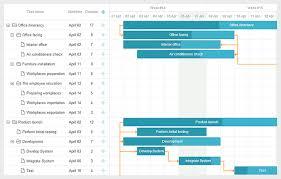 Gantt Chart Mobile App Gantt Chart Webix Gantt Chart App Office Interiors