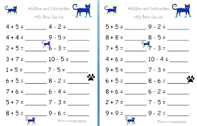 Speed Math Add Subtract Basic Mixed Sums Worksheets Addition And ...