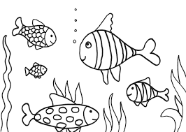 Small Picture Swimming Fish Coloring Pages Coloring Pages