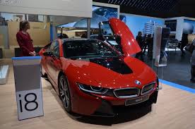bmw 2015 i8 red. Interesting Red BMW I8 Protonic Red Makes World Debut In Geneva Wvideo Bmw 2015 I8