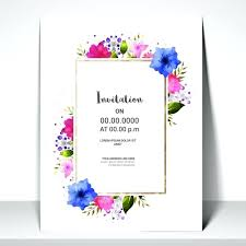 invitation design online free invitation card template with colorful flowers premium vector