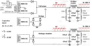 valve amps power supply capacitor input supply