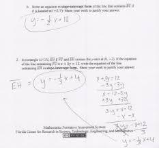 algebra 1 slope intercept form worksheet answer key shared by