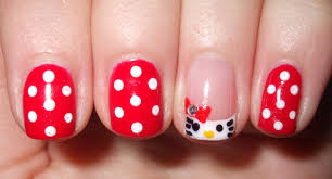 URBANELYDECAYED: Hello Kitty! Shellac Nail Art...