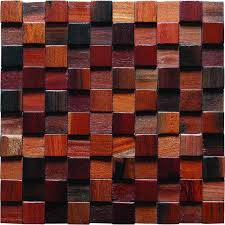 Small Picture TST Wooden Squared Mosaic Tiles Raised Wall Deco Dotted Pattern