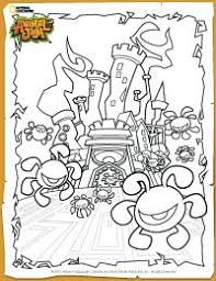 Animal Jam Phantom Fortress Coloring Page Hanna Animal Jam