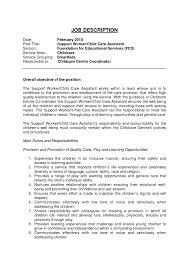 Cv For Care Assistant Care Assistant Responsibilities Best Child Care Worker Description