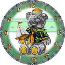 78105 <b>Часы Мишка</b> - 7Игл - наборы для вышивания крестом и ...