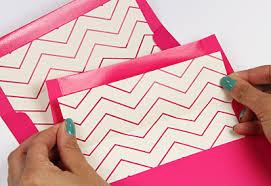 Free Printable Chevron Design Envelope Liner With Invitation