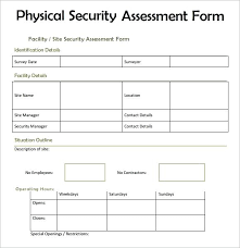 Information Risk Analysis Assessment Template Security Example Pdf ...