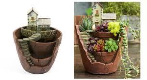 fairy garden broken pot planters best