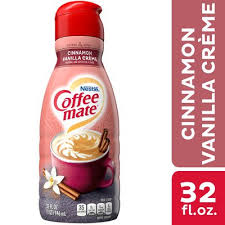 Little more than 'just another cinnamon sugar coffee creamer,' this creamer's faint notes of smelted butter and vanilla aren't quite potent enough to stir the pot in its genre.still less sweet than the smoothies, though! Nestle Coffee Mate Cinnamon Vanilla Creme Liquid Coffee Creamer 32 Fl Oz Instacart