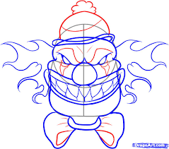 Small Picture Scary Clown Coloring Pages Contegricom