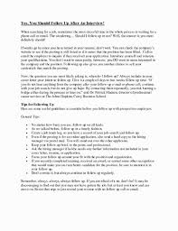 Follow Up After Interview Email Doctemplates123