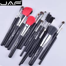 jaf 18 pcs make up brush set natural super soft red goat hair pony horse hair studio beauty artist makeup brushes j1813ay b in makeup scissors from beauty