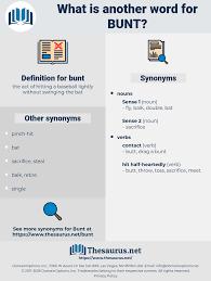 Lightly Synonym Synonyms For Bunt Thesaurus Net