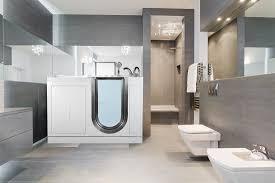 elite walk in bathtub in bathroom