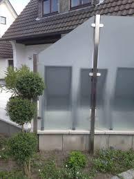 Trennwand Garten Glas Garten Sichtschutzzaun Sichtschutz Glas