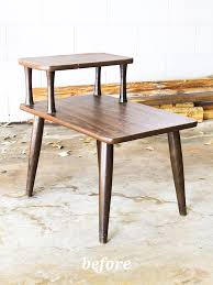 See what this mid-century side table looks like after an easy but so stylish