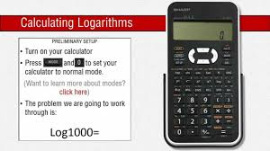 how to use logarithms on a sharp scientific calculator