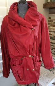 details about euc linea pelle red leather jacket er soft awesome lining m l 1980s 1990s