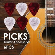 details about 6pcs plastic guitar thickness ukulele non slip paddle clip picks accessories