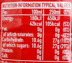 Coca Cola Nutrition Chart Coca Cola Tcheque The Coca Cola Company 1 75 L E