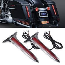 Harley Davidson Light Bar Amazon Com Tuincyn Motorcycle Led Tail Light Kit Trunk Tour