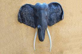 trophy hunting animal plaque