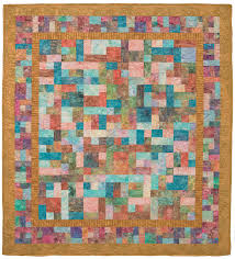 Mosaic-like Gold Rush quilt made with fat quarters - from the book ... & These beautiful quilts are fat-quarter and scrap-bag friendly--you'll be  amazed at how simple ... Adamdwight.com