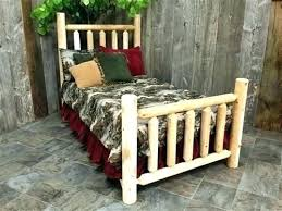 Pine Log Queen Bed Frame Beds King Full And Twin Bunk On Bookcase ...