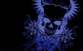 Blue skull HD Wallpaper