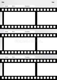 Film Template For Photos Storyboard Film Template Vertical Stock Illustration Image 44286691