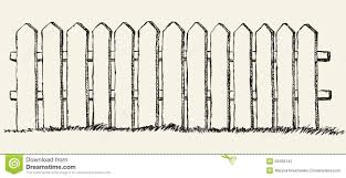 wood fence drawing. Download Wooden Fence. Vector Drawing Stock - Illustration Of Hardwood, Country: 50456143 Wood Fence X