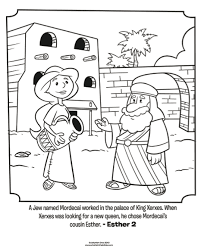 Small Picture Esther and Mordecai Bible Coloring Pages Whats in the Bible
