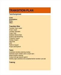 Transition Plan Template Word Transition Plan Template Google Docs Apple Pages Role