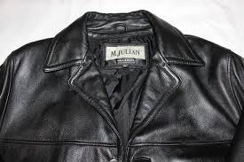 details about m julian wilson leather l tall black leather jacket euc vintage coat