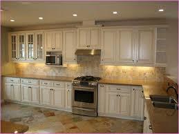 Vintage White Distressed Kitchen Cabinets