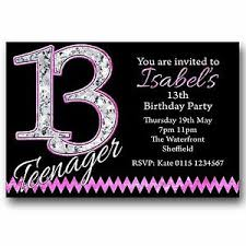 13th Party Invitations Details About 10 Personalised Boys Girls Teenager 13th Birthday Party Invitations T216