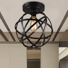 metal lighting. Warehouse Of Tiffany Emrael Antique-black Globe 1-light Edison Bulb Ceiling Lamp Metal Lighting